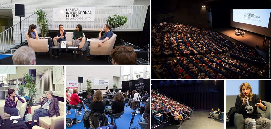 décor pour événement, agencement d'espace pour événement, agence événementielle, location de mobilier, scénographie événementielle, scénomob, festival du film de la Roche sur Yon, FIF 2019, Vendée