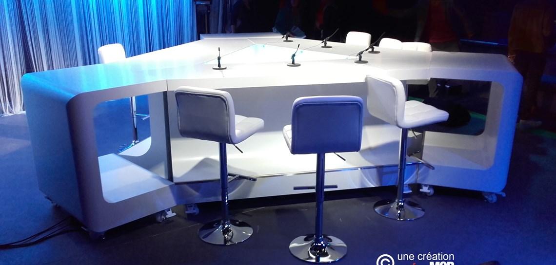création mobilier TV, conception table TV, Scénomob